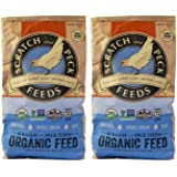 Scratch and Peck Naturally Free Organic Grower Feed for Chickens and Ducks - 25-lb (2-Pack) - Non-GMO Project Verified…