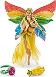 Schleich 41437 - Spielzeugfigur - Regenbogenelfe Meena mit Flughörnchen