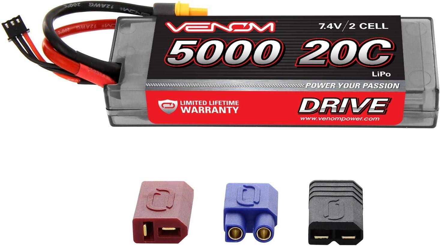 Bateria Lipo 20C 2S 5000mAh 7.4V Hardcase