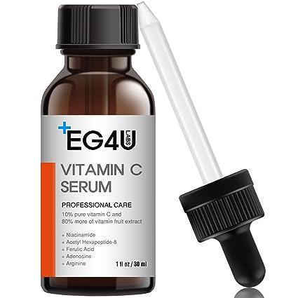 EG4U Suero de vitamina C para rostro - Antiarrugas