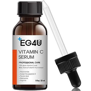Eg4u Vitamin C Serum - Natural Korean Skin Care - For Wrinkles, Lightening, Acne