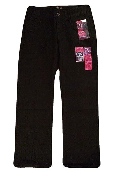 7d1626c2 LEE Riders Womens Slim Net Jeans Black Mid Rise Straight Leg (10 Petite)