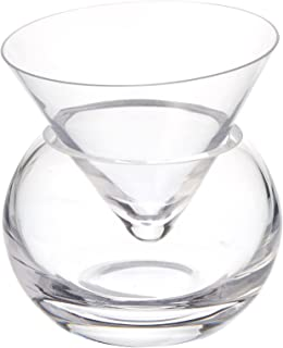 62f937f5423 Viski 5312 Raye Dipped Crystal Martini Glasses, Set of 2, Copper ...