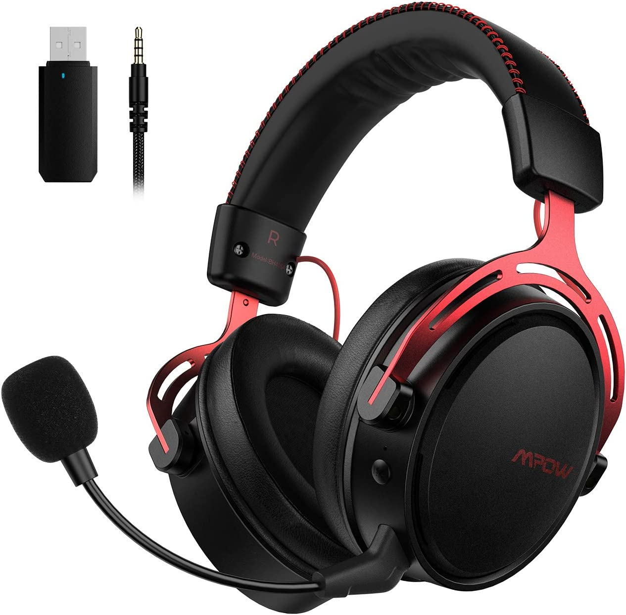 Mpow Air 2 4g Wireless Gaming Headset For Ps4 Pc Computer Headset With Dual Chamber Driver 17 Hour Of Wireless Use Wired Optional Detachable Noise Cancelling Mic Bass Over Ear Gaming Headphones Amazon Ca Electronics