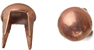 product image for 1003 Long Leg Pearl Nailhead, Size 16, Solid Brass, Copper Finish, 600 Pieces per Pack