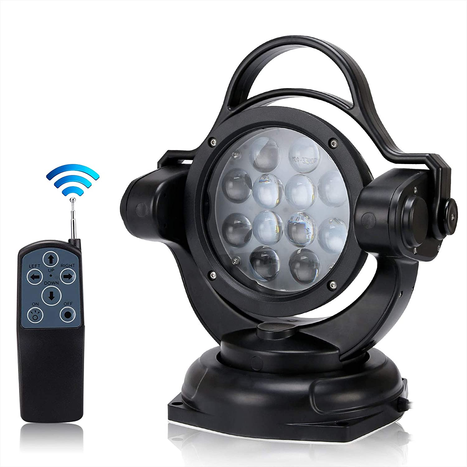 Amazon.com: SUPAREE Wireless Remote Control Searchlight 5000LM 12V 24V 60W  360º Cree LED Rotating Remote Control Work Light Spot for SUV Off-Road  Trucks Boat Home Security Farm Field Protection Emergency Lighting: Home