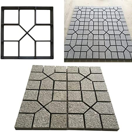 RISTHY Molde de Pavimentación-Molde de Cemento Molde para Hormigón,Hacer Pavimentos/Suelos de Jardín/Caminos,DIY Molde Concreto de Piedra (40×40cm): Amazon.es: Hogar