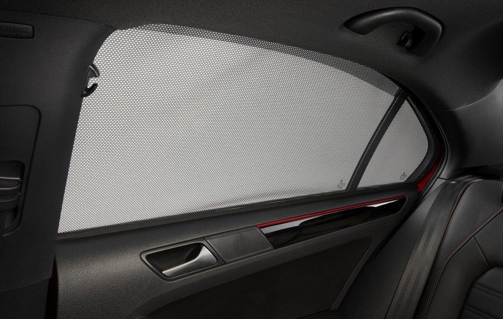 Volkswagen NEW OEM 2019-2020 VW Jetta Rear Magnetic Black Mesh Pop-In Sunshade Visors