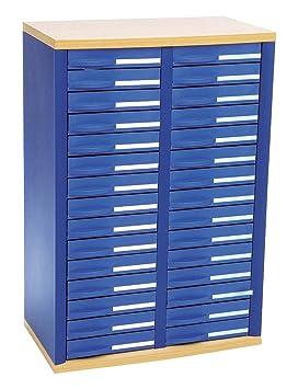 Rexel 1355007 - Archivador con 30 cajones, azul: Amazon.es: Oficina y papelería