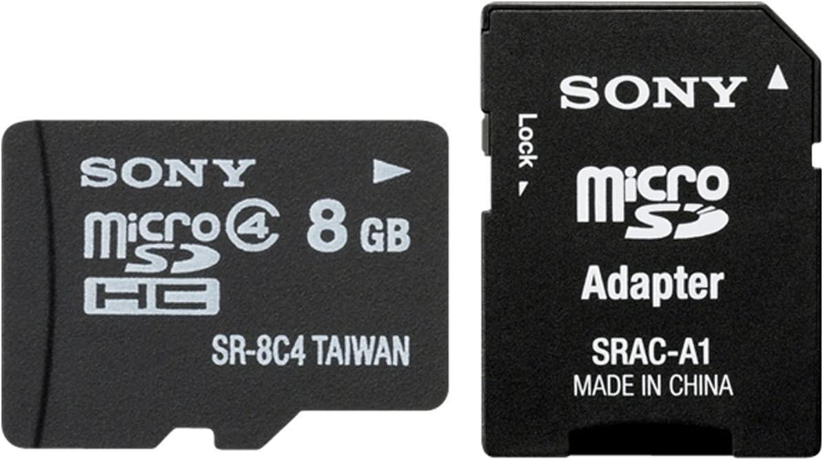 Sony SR8A4 - Tarjeta microSDHC de 8 GB (Clase 4, Adaptador SD), Negro
