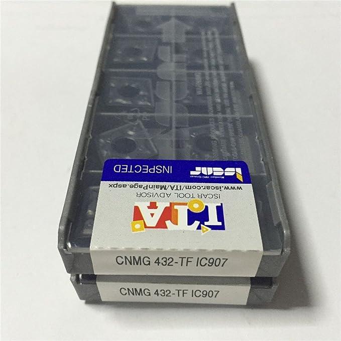 10PCS ISCAR Carbird Inserts CNMG120408-TF IC907 CNMG432-TF IC907 New