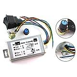 DZS Elec 1pc DC Motor Speed Controller 9-60V Forward/Reverse High Power PWM Control Switch Motor Speed Regulator DC 12V 24V 36V 48V 60V 20A 1200W