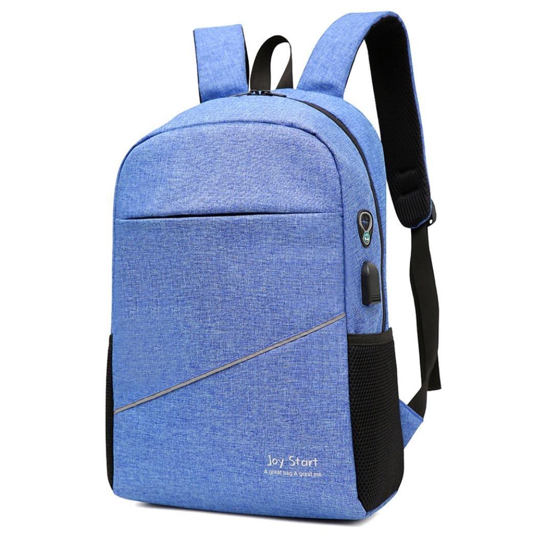 School Book Bags for Men Boys,Jchen(TM) Clearance Sale! Men Backpacks Travel Bag Women School Bag Fashion Travel School Bags Bag Packs (Blue)