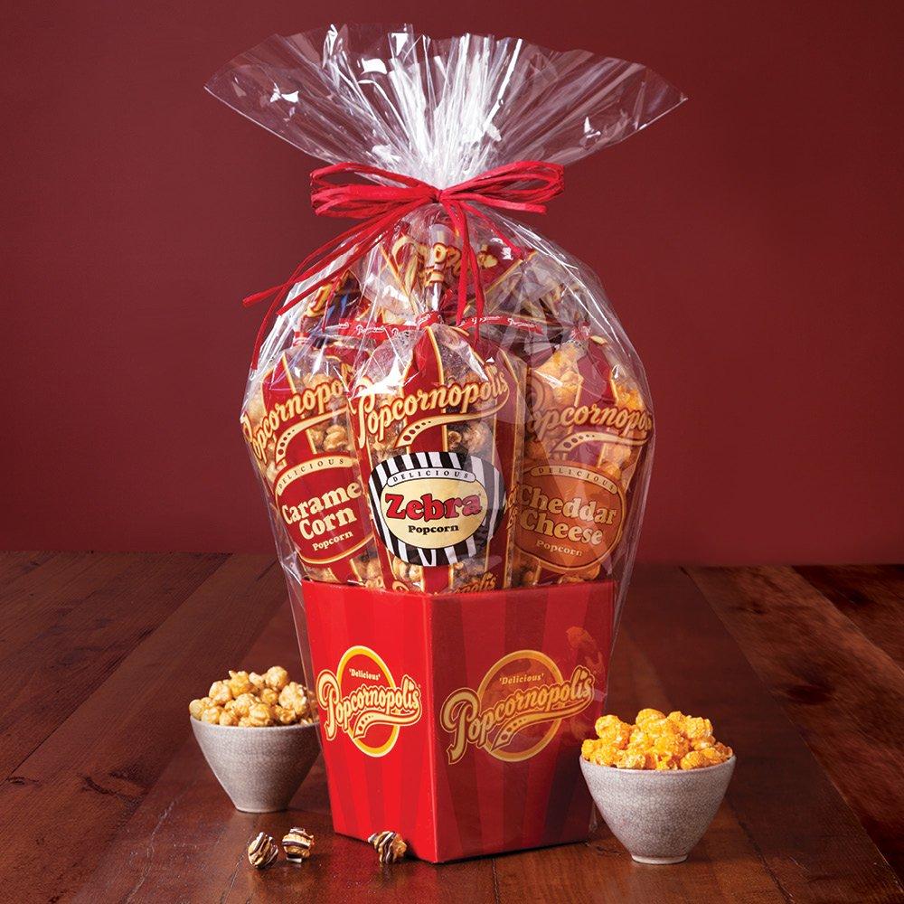 Popcornopolis Gourmet Popcorn 5 cone Gift Basket - Premium by Popcornopolis (Image #2)