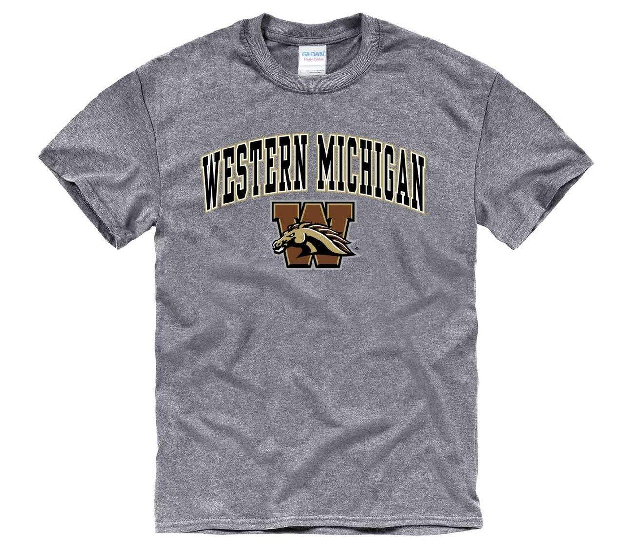 00632238 Amazon.com : Campus Colors Western Michigan Broncos Adult Arch & Logo Soft  Style Gameday T-Shirt - Sport Gray, Large : Sports & Outdoors