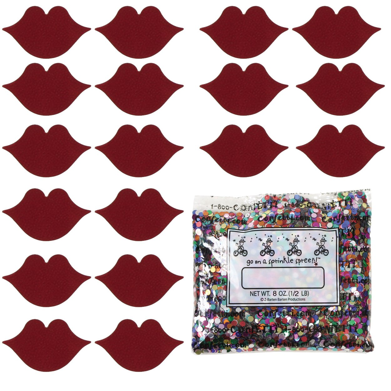 Confetti Kisses Red - Half Pound (8 oz) Free Ship (8423) by Jimmy Jems