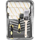 ETERNA 9 Piece Paint Roller Set, 9 inch+4 inch Paint Rollers, with Cover, Frame,Tray and Brush, 9Pcs Paint Roller Kit for Hol