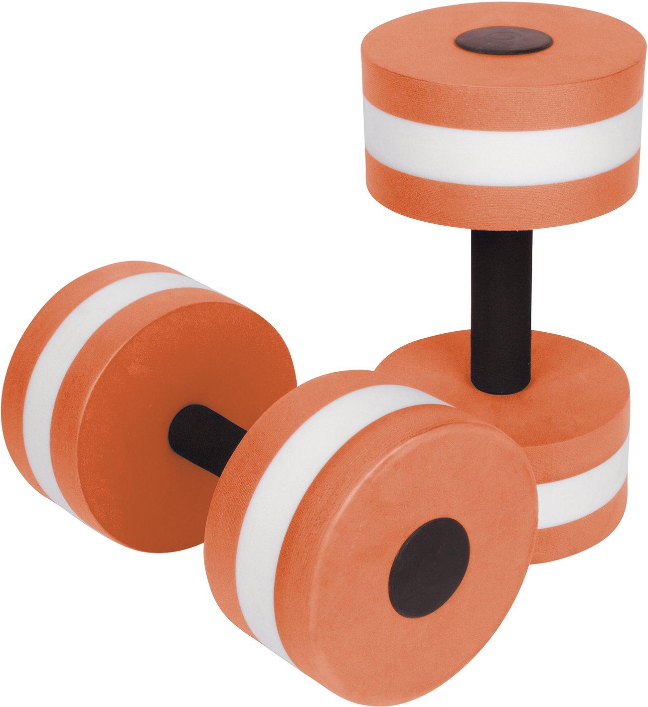 Trademark Innovations Aquatic Exercise Dumbells - Set of 2 Foam - for Water Aerobics (Orange)