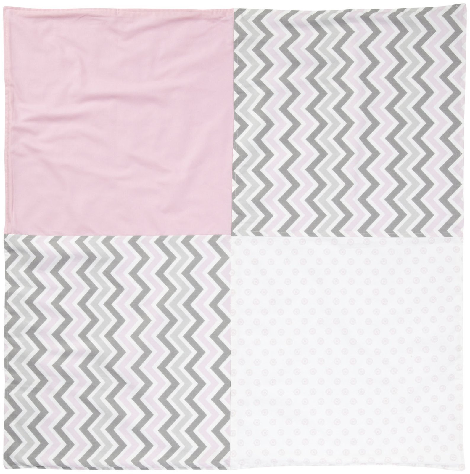 New Arrivals Peace, Love & Pink Crib Blanket-Pink & Gray