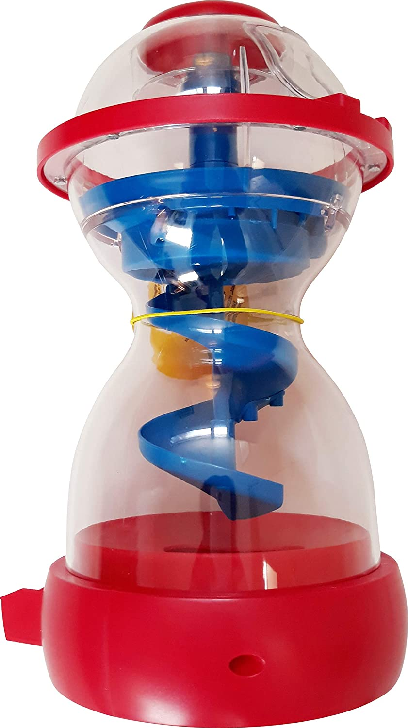 """M&M Candy Dispenser Fun Machine Swirl Action Red and Blue 10"""" x 5"""""""