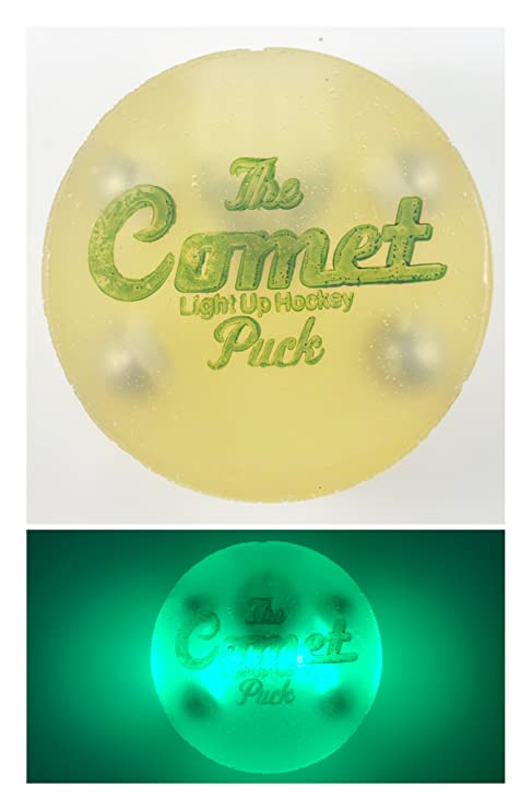 Amazon the comet puck green comet puck lit hockey puck the comet puck green comet puck lit hockey puck mozeypictures Choice Image