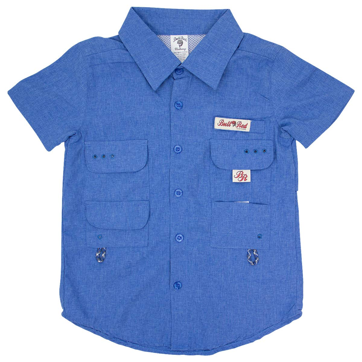 BullRed Toddlers DK Blue PFG Vented Fishing Shirt Button Up, 2T