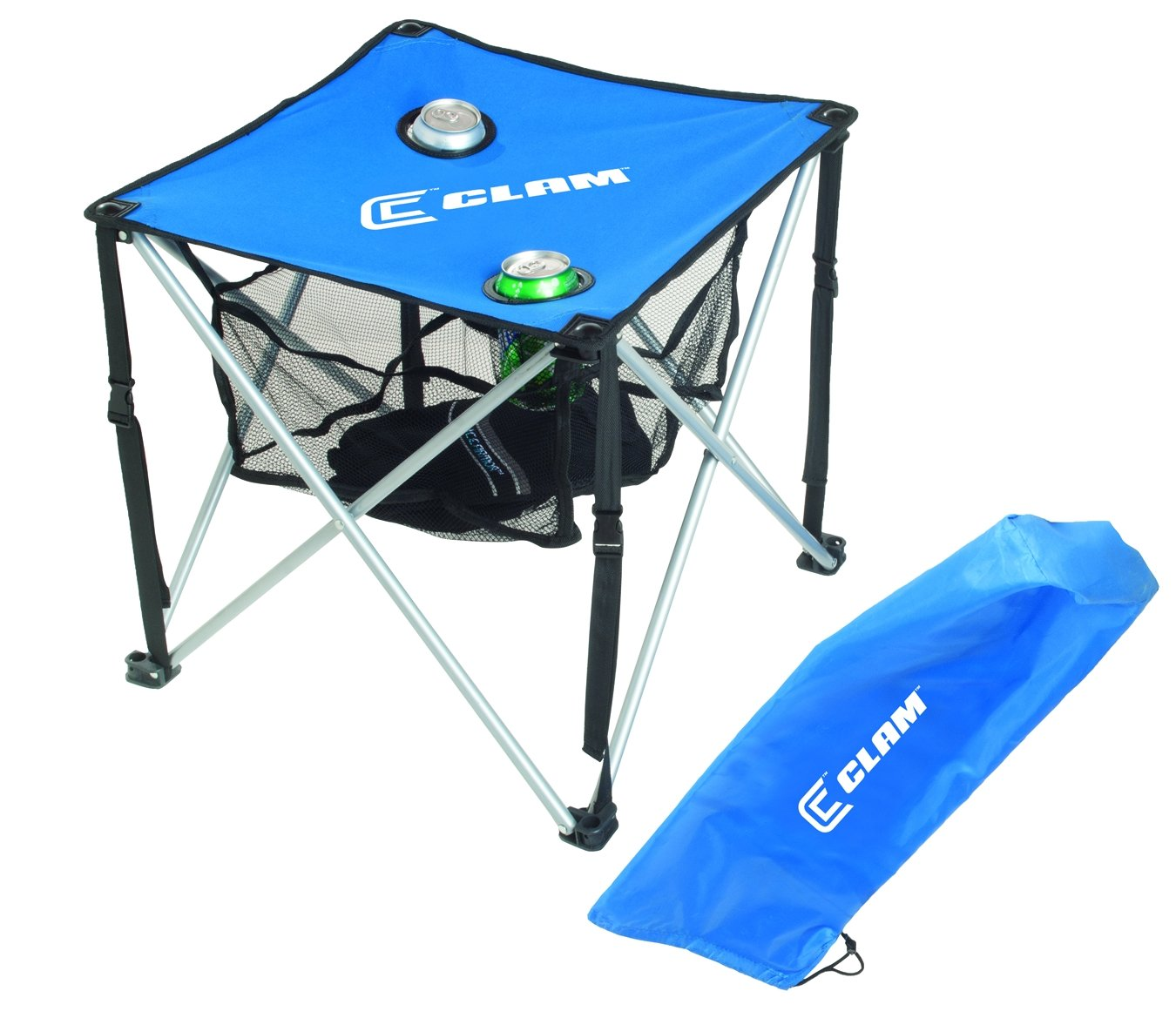 Clam 9180 Quick-Pack Table Square with Carry Case