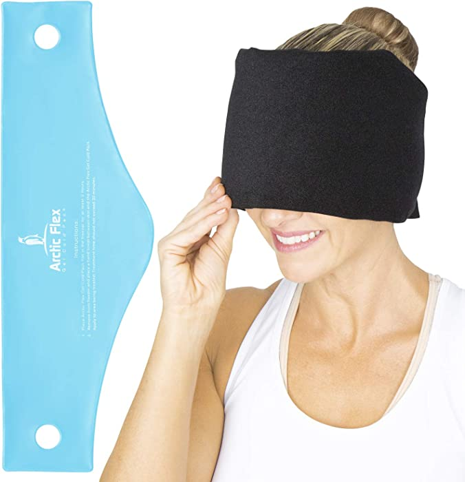 Arctic Flex Headache Relief Ice Pack Hat - Flexible Cold and Hot Gel Migraine Wrap Eye Mask for Head Injuries, Neck, Shoulder Tension Pain - Freeze, Heat Therapy - Kid, Men, Women - Wearable, Reusable