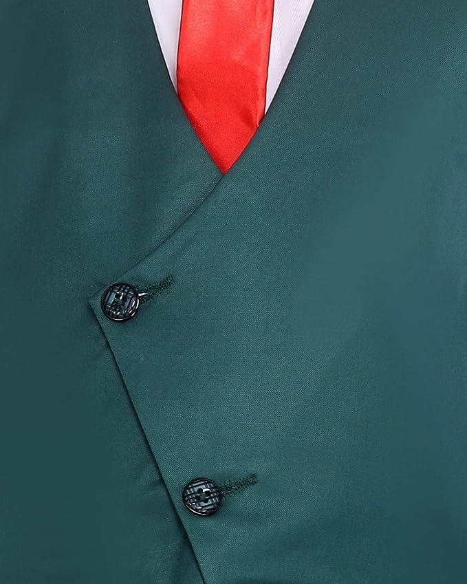 Fourfolds Juego de traje de 3 piezas con camisa, pantalón, corbata ...