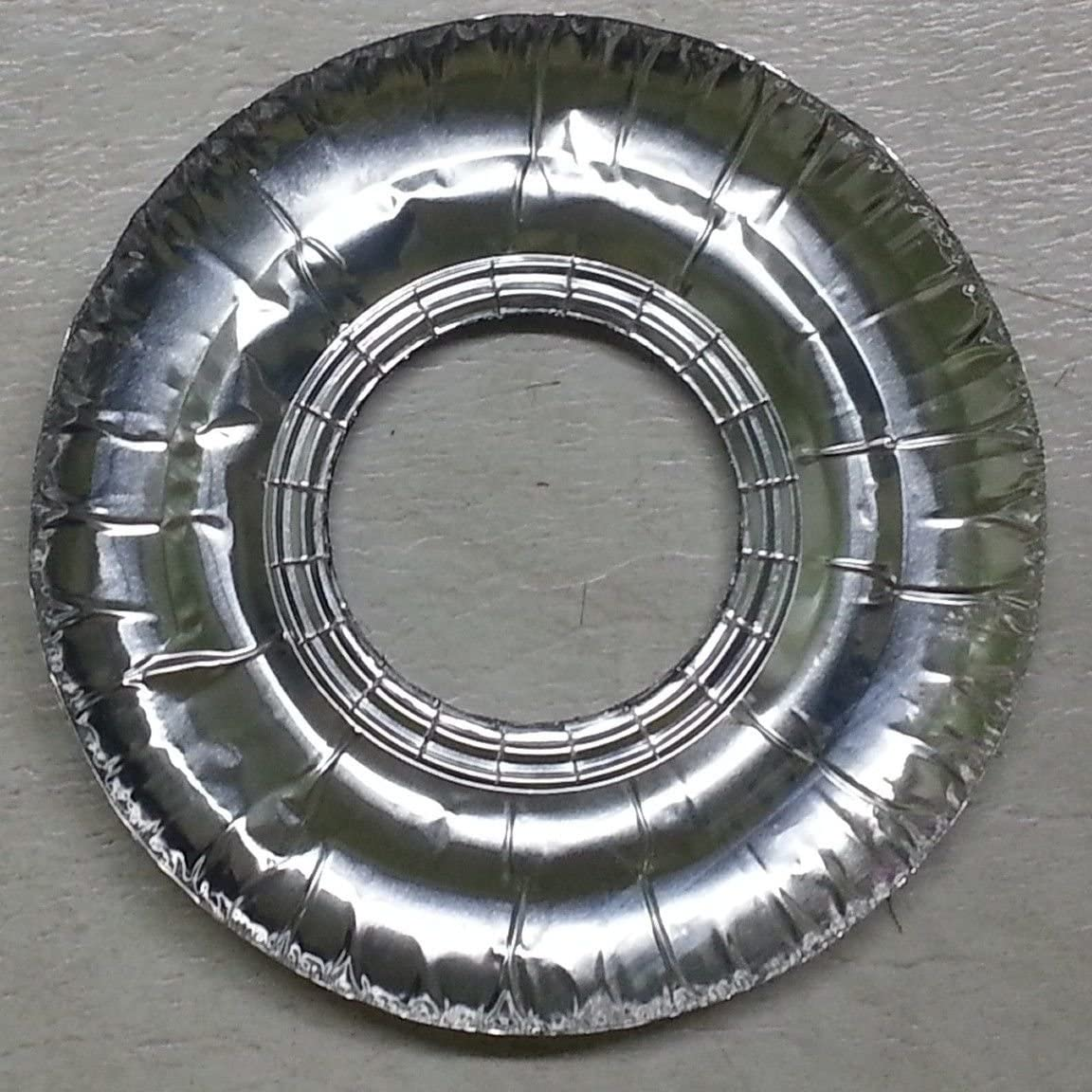 40 Pcs. Aluminum Foil Round Gas Burner Disposable Bib Liners Covers