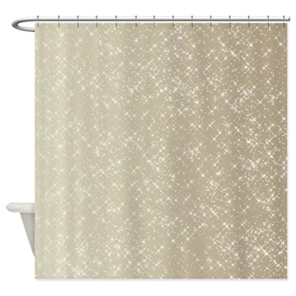 Amazon CafePress Sparkling Gold And White Shower Curtain