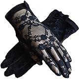 (アーバン ココ)[Urban CoCo]女性手袋 レディースUVカット レース 薄手日焼け防止 紫外線カット ドライビング グローブ パーティー用ショート手袋