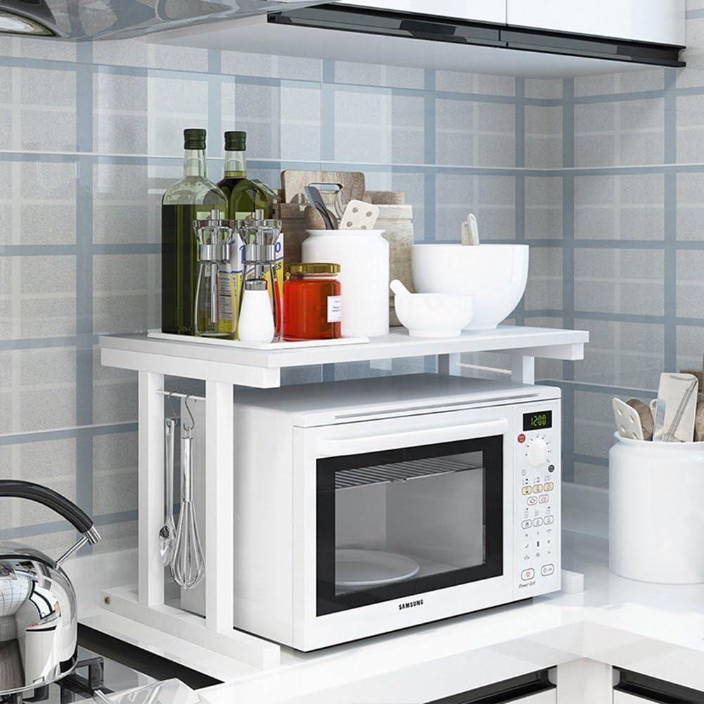 ALF Microwave storage rack Kitchen shelf, household appliance microwave oven rack multifunctional kitchen storage rack Kitchen shelf (Color : B)