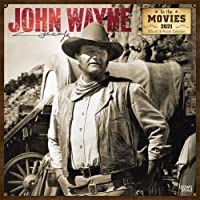 John Wayne in the Movies 2021 12 x 12 Inch Monthly Square Wall Calendar with Foil Stamped Cover, USA American Actor Celebrity Country