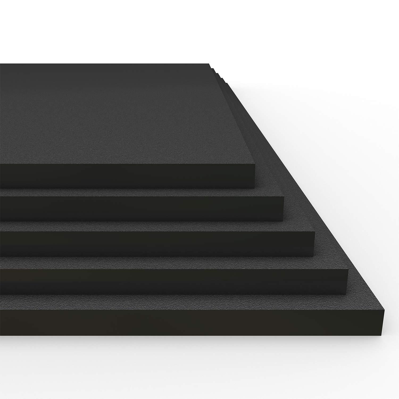 "HDPE Plastic Sheet (5 Sheets) 12"" x 24"" x 1/4"" - Black Marine Board - ProTech Plastic"