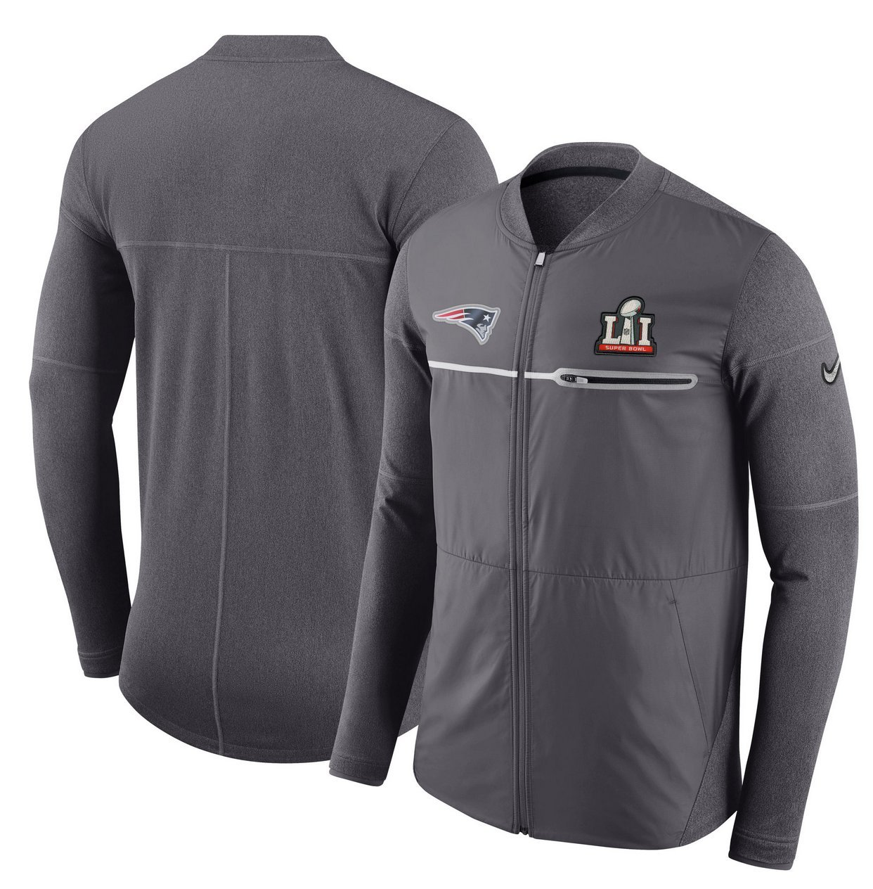 Amazon.com   New England Patriots Nike NFL Super Bowl 51 LI Men s Full-Zip  Hybrid Jacket   Sports   Outdoors e4cae1fdb