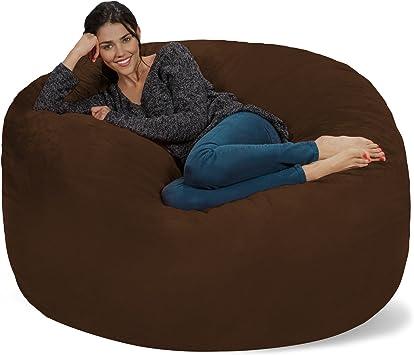 BIG FRANK Living room Home decor Furniture Black 7 ft Bean bag COVER ONLY