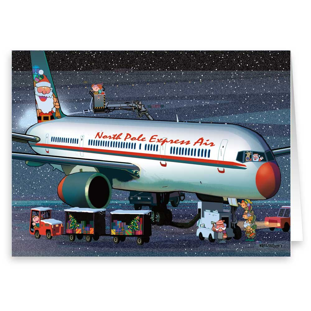 Amazon.com: Airplane Christmas Card Variety Pack 24 Cards ...