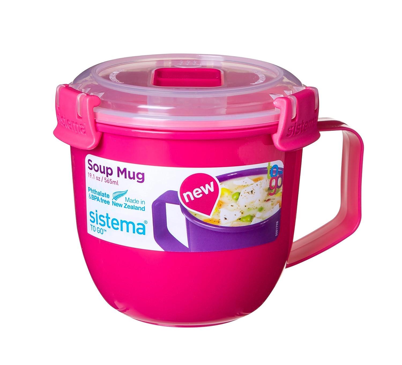 Sistema Klip It microondas taza de sopa To Go, 565 ml, rosa ...