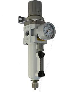 PneumaticPlus SAW3000M-N03BDG Air Filter Regulator Combo Piggyback 3//8 Pipe Size Poly Bowl with Gauge NPT-Auto Drain