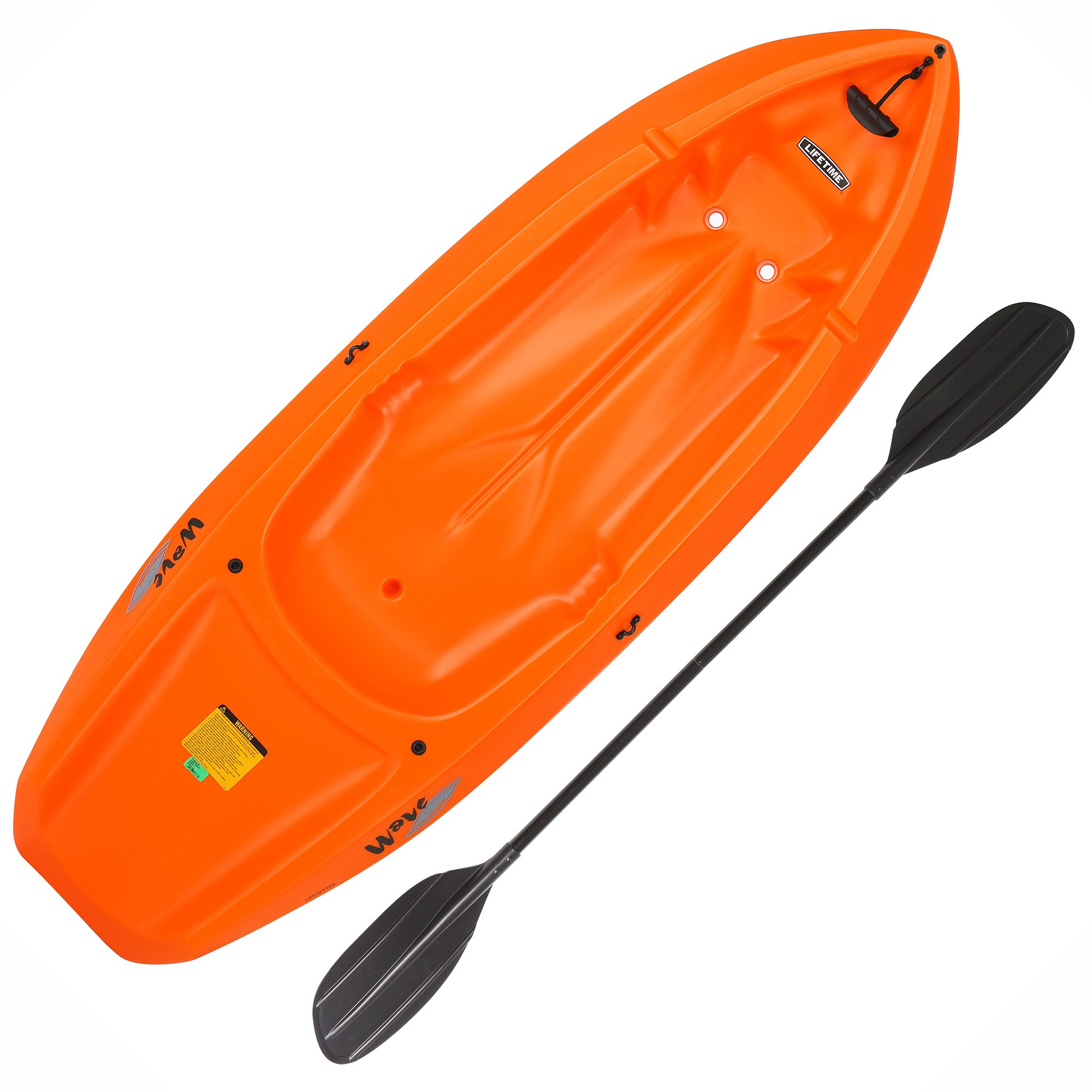 Lifetime 90479 Youth 6 Feet Wave Kayak with Paddle, Orange by Lifetime
