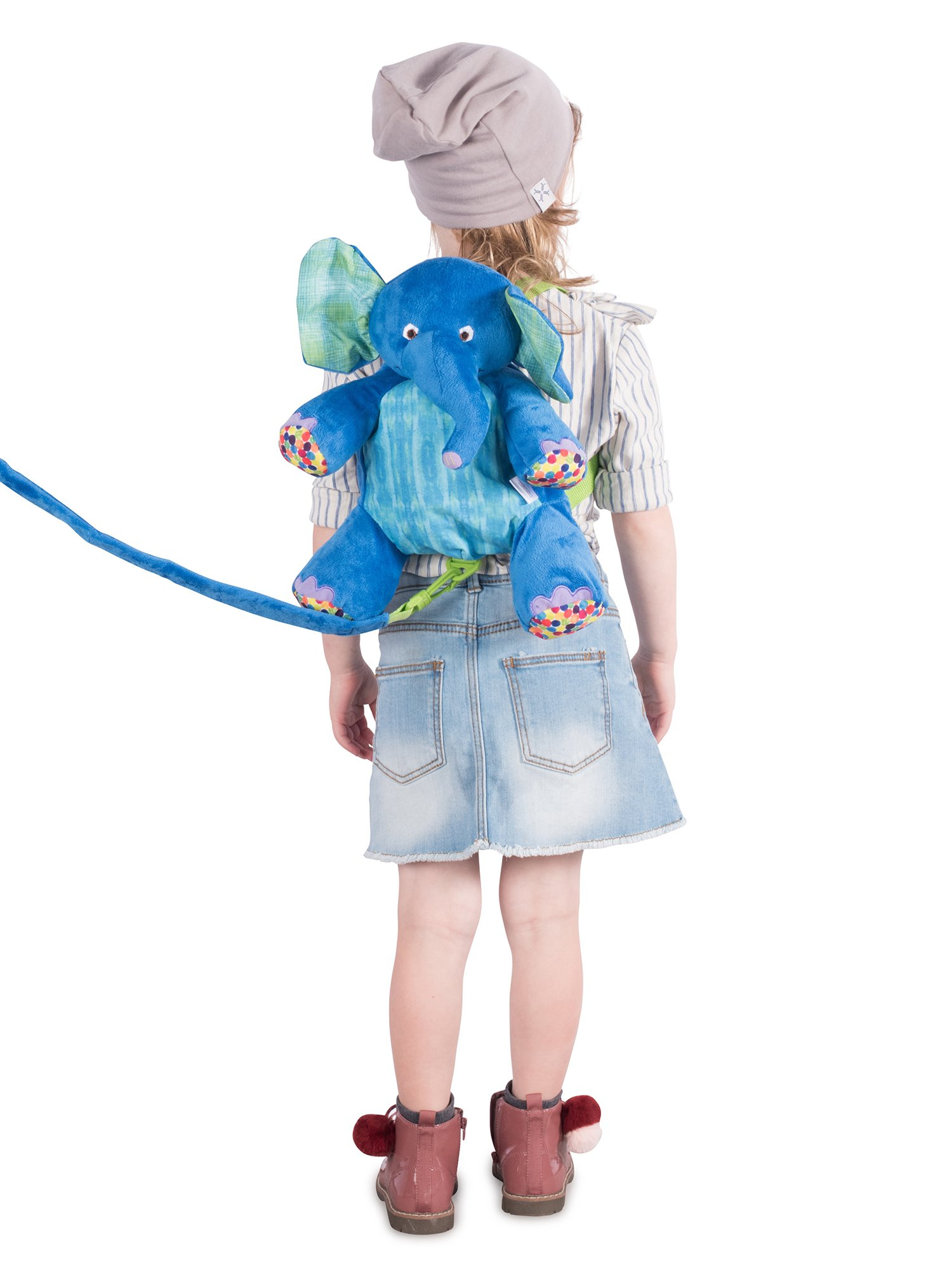 Eric Carle The Very Hungry Caterpillar Backpack Harness, Elephant, Polyester, Elephant Backpack, Children's Backpack, Blue