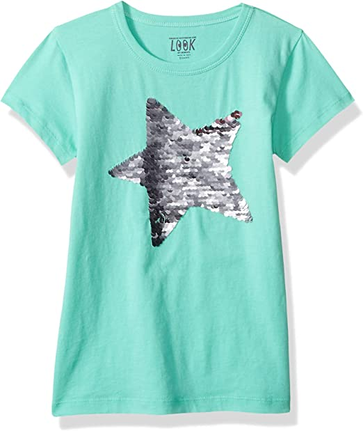 LOOK by crewcuts Girls 2-Pack Graphic//Solid Long Sleeve T-Shirt // J Crew Brand