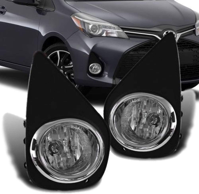 RP Remarkable Power FL7013 Fit For 2015-2017 Yaris Hatchback 2//4 DR Fog Bumper Light Lamp w//Switch Harness Kit