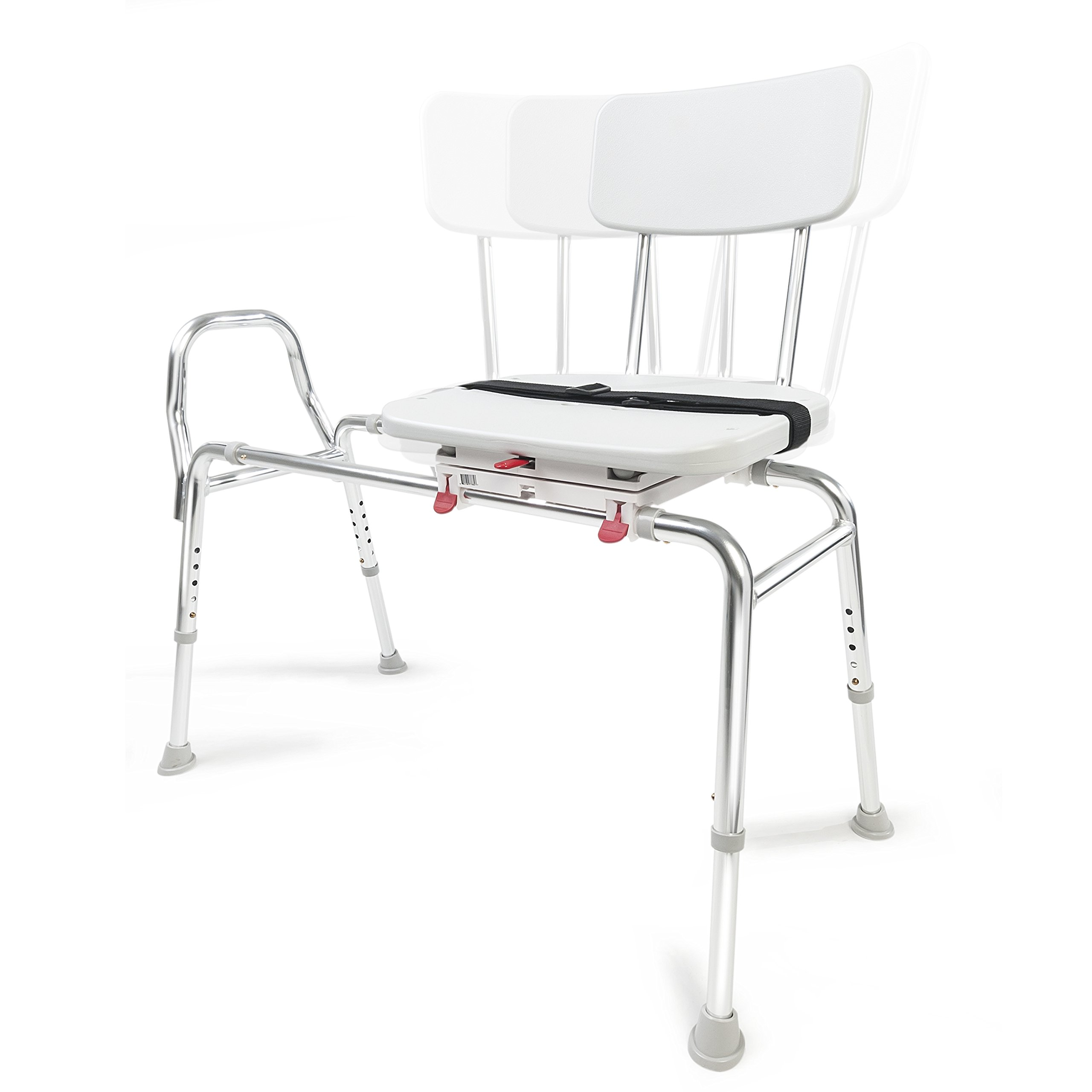 Eagle Health Supplies Swivel Sliding Shower Transfer Bench with Adjustable Height, No Tool Assembly by Eagle Health Supplies (Image #2)
