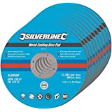 Silverline 447131 - Rueda de corte, 10 pzas 115 x 3 x 22,2 mm