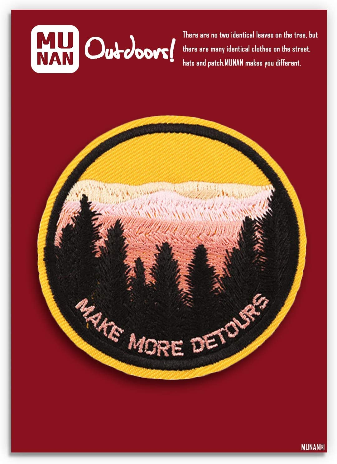 Take A Hike Embroidered Iron-On Patch Embroidered Patch Iron  Sew-On Badge Emblem Biker Applique