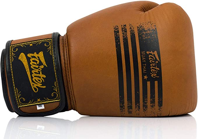Fairtex BGV21 Legacy Leather Boxing Gloves Brown Muay Thai Kick Sparring Mitts
