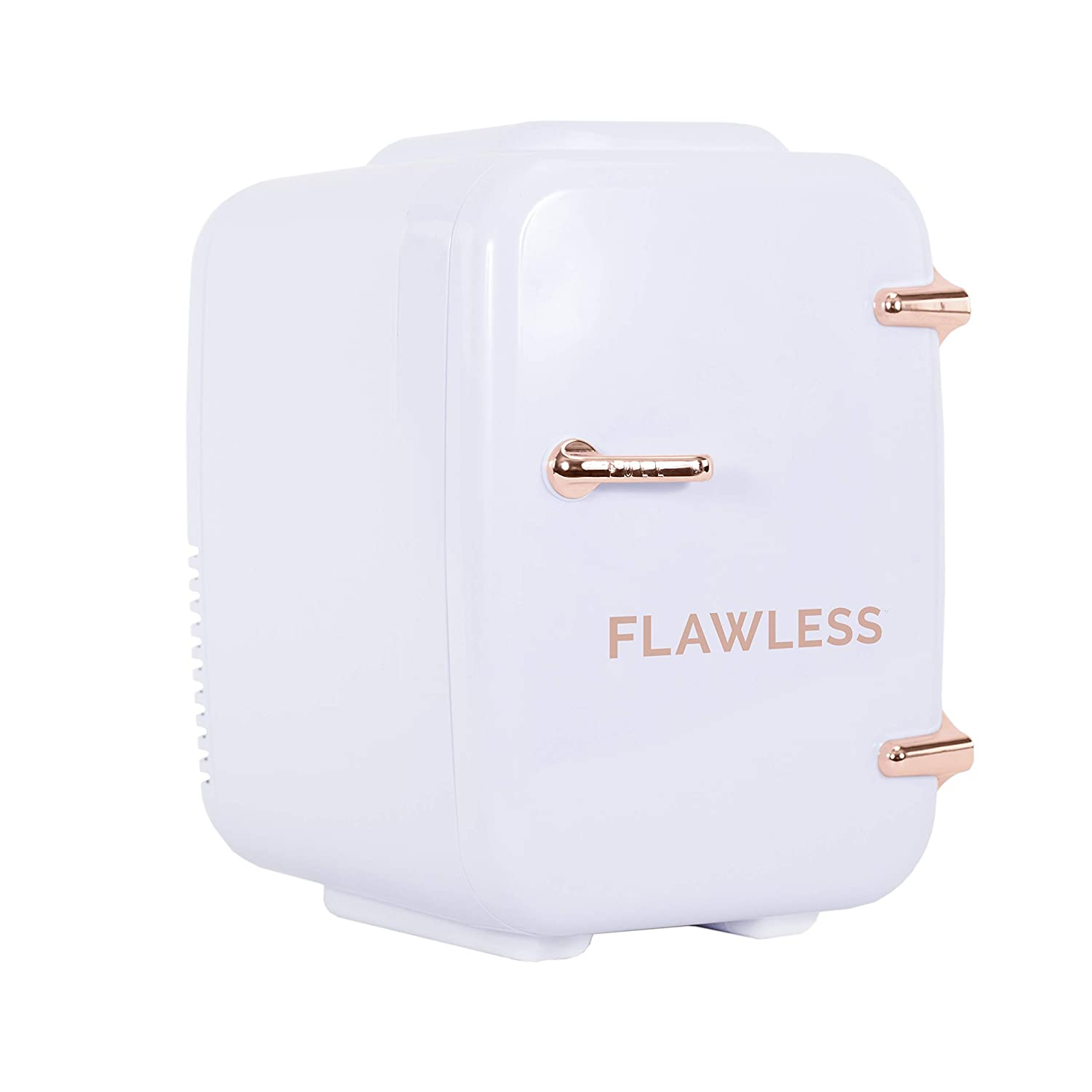 Finishing Touch Flawless Beauty Mini Fridge for Makeup and Skincare, White/Rose Gold