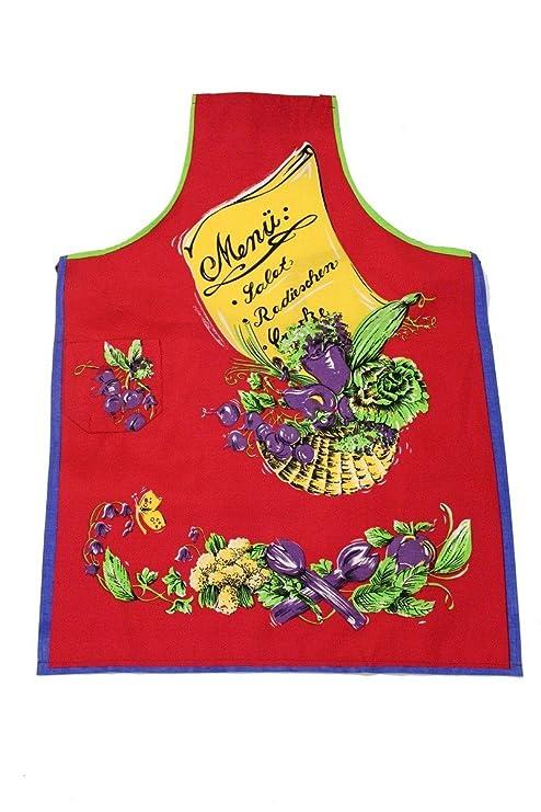 Tobeni® 1708 - 007 Delantal Menú para barbacoa y cocina en ...